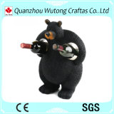 Держатели бутылки вина животного шкафа вина смолаы формы черного медведя творческие