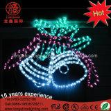 ホーム装飾のための防水LEDの金クリスマス鐘のモチーフロープライト