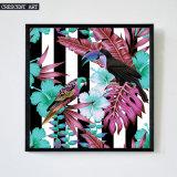 Été Pop Art de mur de couleur Impression tropicale de toile de faune