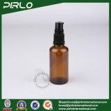 bernsteinfarbige nachfüllbare Glasflaschen des spray-50ml mit schwarzem Plastiklotion-Pumpen-Sprüher