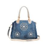 流行の水晶Bling Blingのデニムの学生かばんの女性袋(MBNO042132)