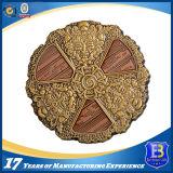 Выдвиженческая античная латунная овальная монетка с мягкой эмалью (Ele-C028)