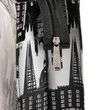 2 Tamaños de PVC impermeable Zipper bolsillo interno de la PU Bolsa de compras