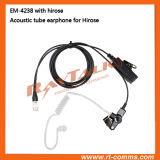 Écouteur clair acoustique de tube avec le connecteur rapide de Pin de Hirose 6