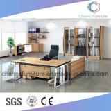 Vector L escritorio del administrador de oficinas de los muebles de la manera del ejecutivo de la dimensión de una variable