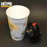 горячий выпивая бумажный стаканчик 8oz/12oz/16oz с втулкой