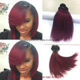 Brasilianische Remy Haar Ombre Farbe 10inch Ot1b-99j gerade