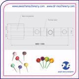 Lollipop que faz o processo de manufatura dos confeitos do equipamento