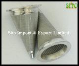ステンレス鋼の編まれた金網の円錐形形のMultyのこし器