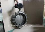Válvula de borboleta da extremidade de rosqueamento completamente do aço inoxidável Ss316L (CBF01-TL01)