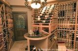 Weinlese-elegante Art passen hölzernen Weinkeller für Hauptmöbel an