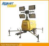 Tour d'éclairage mobile de Hailide en métal hydraulique de mât