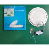 Luz de painel do diodo emissor de luz-- Encaixado montado em volta do painel magro 12W do painel 12W