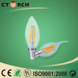 Bulbo 2W da vela do diodo emissor de luz do filamento