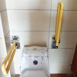 Barrier Mounted nylon Coated U-Shaped Folding UP grave bar for Washroom