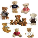 Peluche enchida assento do urso da venda por atacado 35cm, urso do brinquedo do luxuoso, urso da peluche do luxuoso