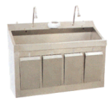 AG-Was008 para 2 bacias de lavagem do hospital do aço inoxidável da pessoa