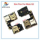 Гибкий трубопровод карточки SIM для подноса шлица гнезда памяти SD держателя Moto G3 Xt1055 Xt1050 микро-