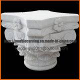 Fiore bianco di Carrara che intaglia colonna capitale per la decorazione