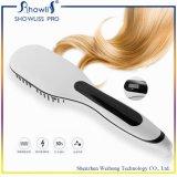2016 Nuevo OEM del artículo 2 en 1 pelo jónico que endereza el cepillo con la exhibición del LCD FCC CE RoHS