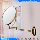 Miroir flexible fixé au mur d'or bi-directionnel en laiton