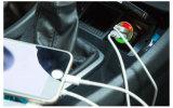 Заряжатель 2.4A 1.0A автомобиля портов USB алюминия 2 удваивает заряжатель автомобиля USB на iPhone 5 6 6 положительных величин на iPad 2 3 4 5 для галактики S4 S5 Samsung