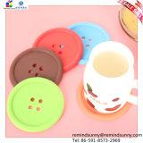 Siliconeの円形のButton Design Coaster Made
