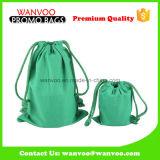コーヒー包装のための粋な緑の耐久財の100%年の綿のドローストリングの袋袋