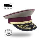Edler kundenspezifischer Militäroffizier Headwear mit Blatt-Stickerei