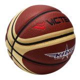 Basket-ball en cuir composé de 12 panneaux