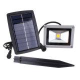 10W lampe de mur extérieure imperméable à l'eau de projecteur d'horizontal de décoration de jardin de lumière de nuit d'inondation de l'énergie solaire DEL