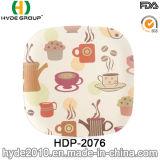 Verschiedene Entwurfs-Bambusfaser-großer Teller (HDP-2076)