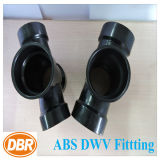 2 * 2 * 1-1 / 2 * 1-1 / 2 polegadas Tamanho ABS Dwv Fitting Reducing Double Sanitary Tee
