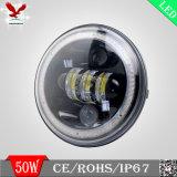 IP67 7 luz quadrada do trabalho de direção de carro do diodo emissor de luz do CREE da polegada 50W