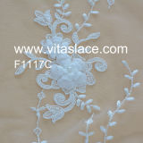 Avorio 1.4m Corded Lace Fabric per Table Cloth Vl-60023c