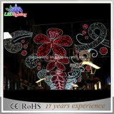 Multi luz colorida do motivo da rua do diodo emissor de luz da flor