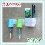Support fixé au mur de brosse à dents d'accessoires de salle de bains avec la cuvette d'aspiration