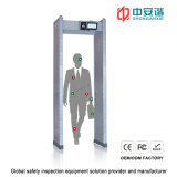 IP55 Hospitals Security Torbogen Metal Detector mit 100 Working Frequency 7 Inch LCD Screen
