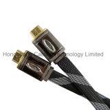 Кабель алюминиевого кожуха плоский HDMI с Nylon сеткой
