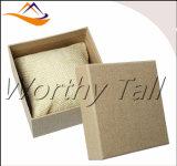 Boîtes-cadeau carrées faites sur commande de bracelet de montre de bijou d'éponge de papier de Brown