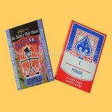 Cartes de papier adultes polychromes de casino de cartes de jeu