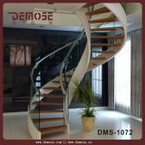Escadaria de madeira pré-fabricada da espiral do passo (DMS-1001)