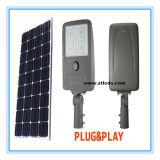 уличный свет 20W СИД солнечный с батареей регулятора LiFePO4 MPPT