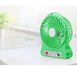 Mini luz recargable portable Pocket del ventilador LED hecha en China