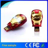 Mecanismo impulsor verdadero 16GB 32GB del flash del USB del hombre del hierro del metal de la capacidad plena del 100%