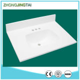 Sinkの金Sand Artificial White Quartz Stone Vanity Tops