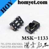 6 Pinの中国の製造業者の高品質のスライドスイッチSMD (MSK-1133)
