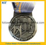 Изготовленный на заказ медали марафона способа 21km сплава цинка высокого качества половинные