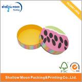Boîte-cadeau ronde fabriquée à la main de carton (QYZ082)