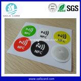 o costume 13.56MHz imprimiu a etiqueta Rewritable da etiqueta do Tag de RFID NFC